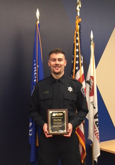 Officer Turner Botz Receives FVTC Craig A. Birkholz Award